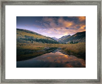 Ragged Peak And Chair Mountain Framed Print