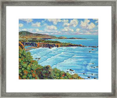 Framed Print featuring the painting Ragged Point California by Dwain Ray