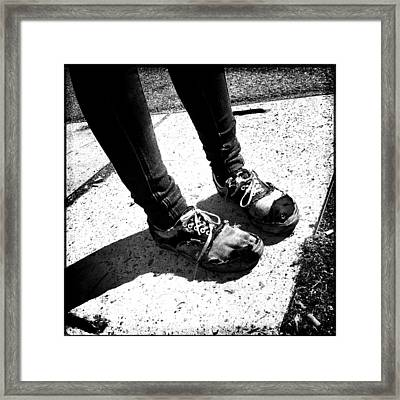 Ragged Shoes Framed Print by Marco Oliveira