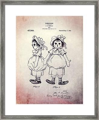 Raggedy Ann Design Framed Print