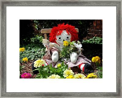 Raggedy Ann's Garden Framed Print by Nava Thompson