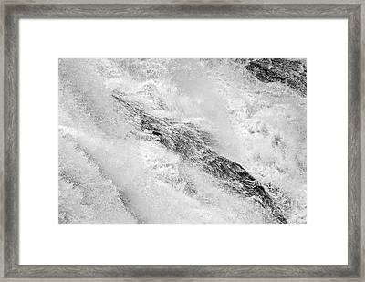 Raging - Close Up Of A Roaring Waterfall Framed Print by Jamie Pham