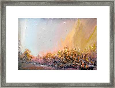 Raging Forest Fire Framed Print