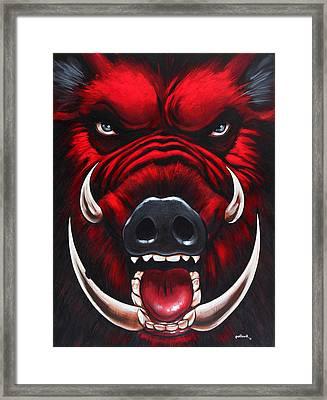 Raging Hog Framed Print