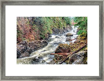 Raging River Framed Print by James Wheeler