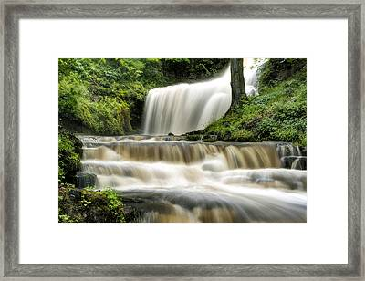 Raging Scaleber Force Falls Framed Print by Chris Frost