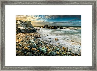 Raging Sea Framed Print by Adrian Evans