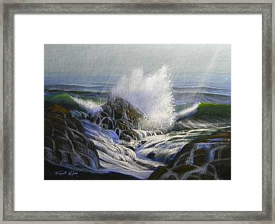 Raging Surf Framed Print by Frank Wilson