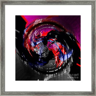 Raging Temper Framed Print