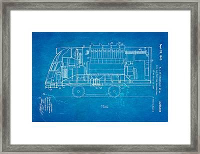 Ragsdale Pioneer Zephyr Train 2 Patent Art 1941 Blueprint Framed Print