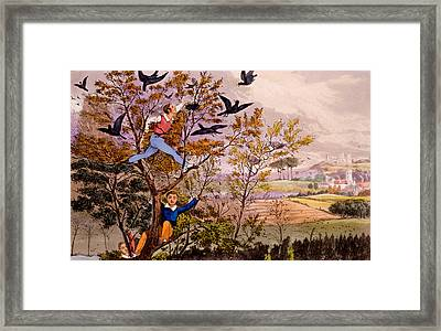 Raiding The Rook's Nest Framed Print by Henry Thomas Alken