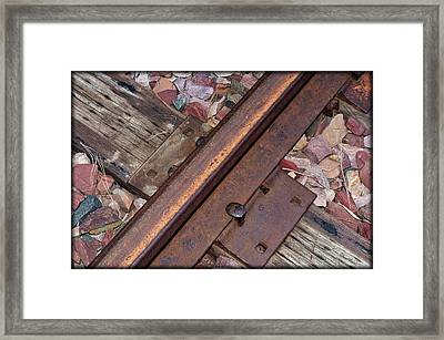 Rail And Tie Framed Print by Kae Cheatham
