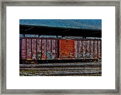 Rail Car Art Framed Print
