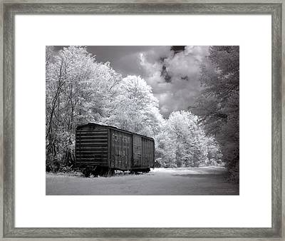 Rail Car Framed Print by Terry Reynoldson