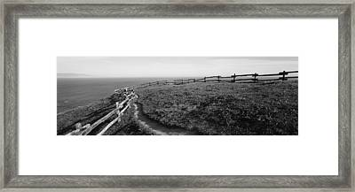 Rail Fence At The Coast, Point Reyes Framed Print by Panoramic Images