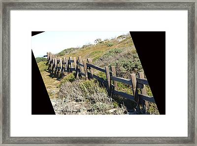 Rail Fence Black Framed Print by Barbara Snyder