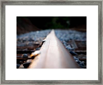 Rail Line Framed Print