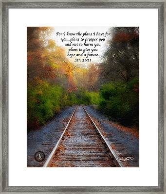 Rail Of Hope Framed Print
