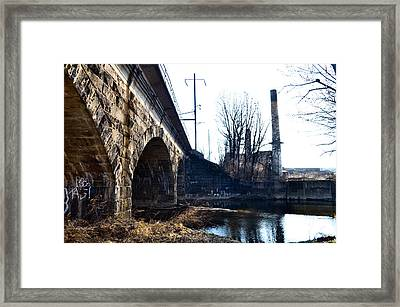 Rail Road Bridge Over The Brandywine Creek Downingtown Pa Framed Print by Bill Cannon