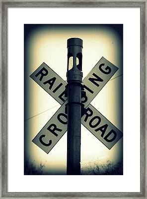 Rail Road Crossing Framed Print