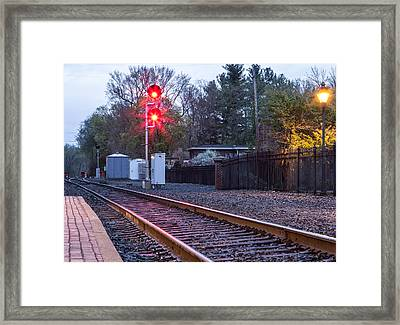 Rail Road Tracks Framed Print