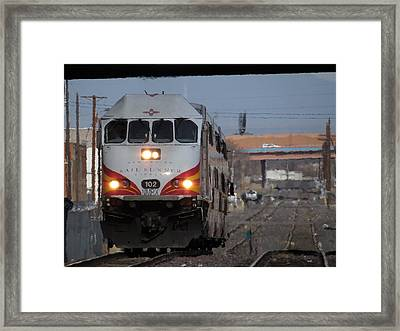Rail Runner Framed Print by Feva  Fotos