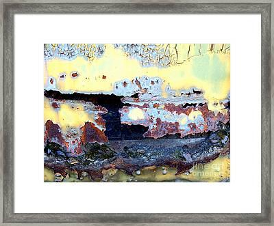 Rail Rust - Heavy Metal - Torn Apart Framed Print by Janine Riley