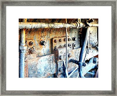 Rail Rust - Locomotive - Nuts And Bolts Framed Print by Janine Riley