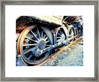 Rail Rust - Locomotive - Wheels Keep On Turning Framed Print