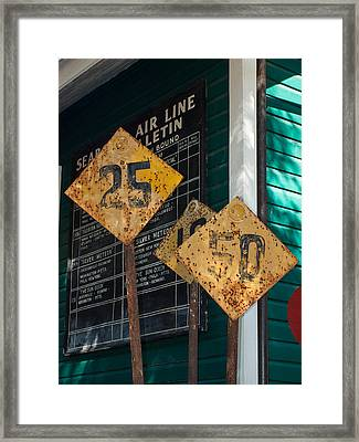 Rail Signs Framed Print