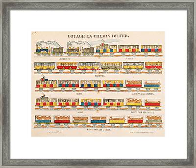 Rail Travel In 1845  Framed Print by French School