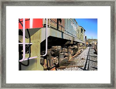 Framed Print featuring the photograph Rail Truck by Michael Gordon