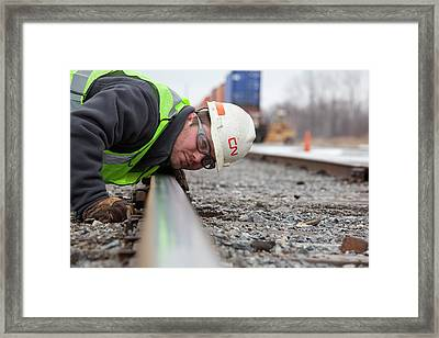 Rail Yard Track Maintenance Framed Print