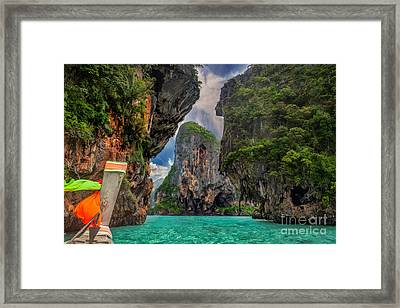 Railay  Framed Print by Anek Suwannaphoom