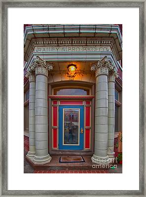 Railey And Bro Bkg Co Building Framed Print