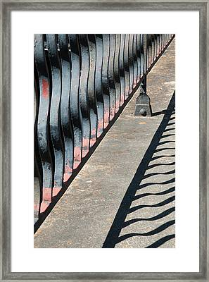 Railings In Savannah. Georgia.  Framed Print