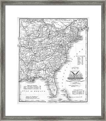 Railroad & Canal Map, 1863 Framed Print by Granger