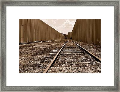 Railroad Framed Print by Andres LaBrada
