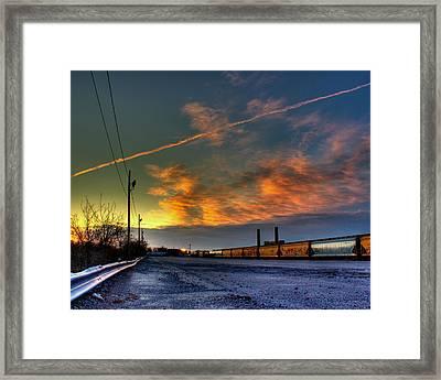 Railroad At Dawn Framed Print by Tim Buisman