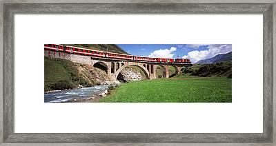 Railroad Bridge, Andermatt, Switzerland Framed Print
