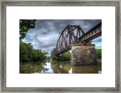Railroad Bridge Framed Print by James Barber