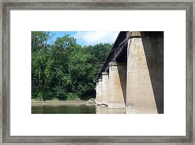 Framed Print featuring the photograph Railroad Bridge by John Mathews