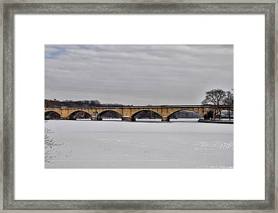 Railroad Bridge Over The Schuylkill River Framed Print