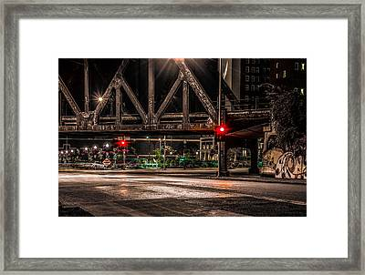 Framed Print featuring the photograph Railroad Bridge by Ray Congrove