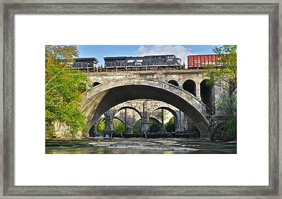 Railroad Bridges Framed Print by Frozen in Time Fine Art Photography