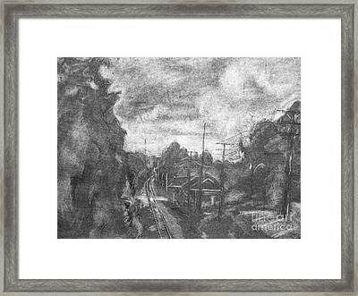 Railroad Crossing Framed Print