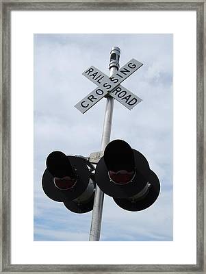 Framed Print featuring the photograph Railroad Crossing by Ramona Whiteaker