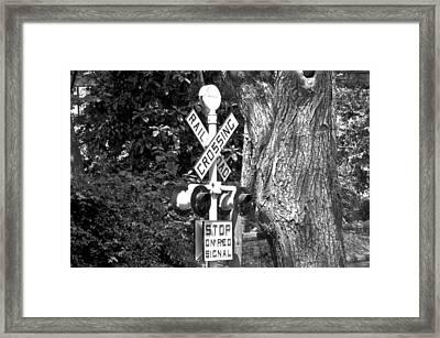Railroad Crossing Framed Print