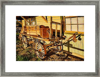 Railroad Luggage Cart Framed Print