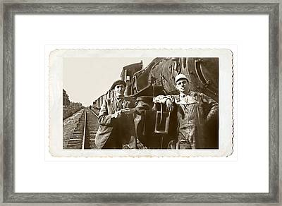Railroad Men Framed Print